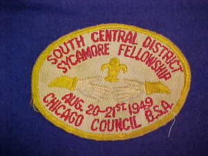 1949 CHICAGO COUNCIL,SOUTH CENTRAL DISTRICT,SYCAMORE