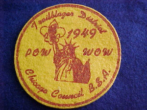 1949, CHICAGO COUNCIL POW WOW, TRAILBLAZER DISTRICT, FELT
