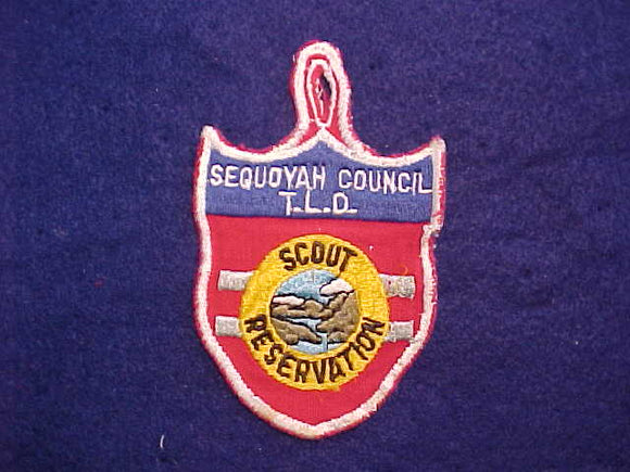 1950'S SEQUOYAH COUNCIL T.L.D. SCOUT RESERVATION, USED