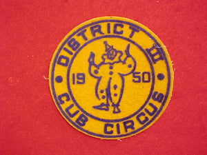 1950 DISTRICT III CUB CIRCUS, FELT