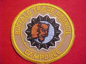 1950'S PATCH, BUFFALO TRACE C. CAMPOREE, TAN BKGR.