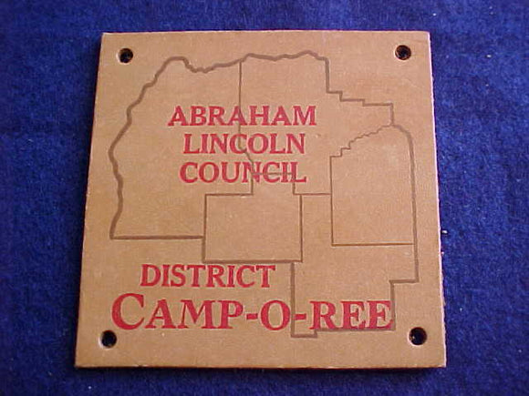 1950'S, ABRAHAM LINCOLN COUNCIL DISTRICT CAMPOREE, LEATHER