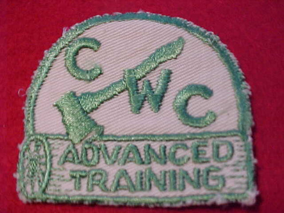 1950'S CENTRAL WYOMING C. PATCH, ADVANCED TRAINING, USED