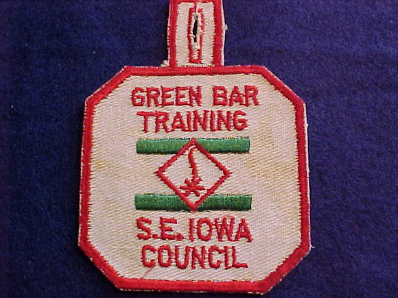 1950'S, SOUTHEAST IOWA COUNCIL GREEN BAR TRAINING, USED