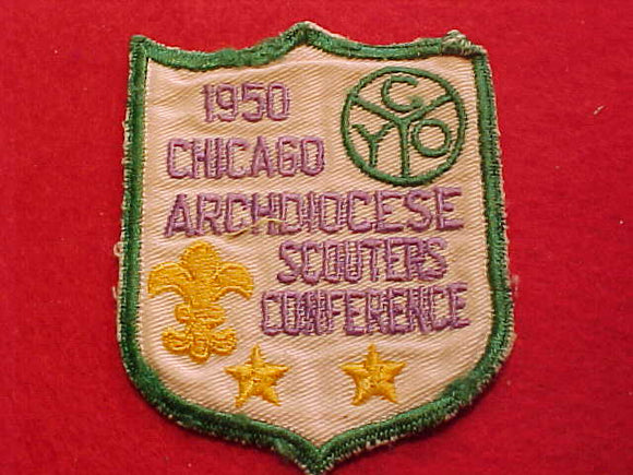 1950, CHICAGO COUNCIL, ARCHDIOCESE SCOUTERS CONFERENCE, USED