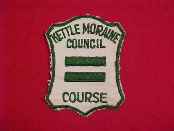1950'S KETTLE MORAINE COUNCIL, GREEN BAR COURSE