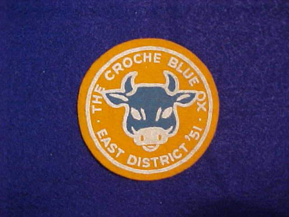 1951 THE CROCHE BLUE OX, EAST DISTRICT, FELT