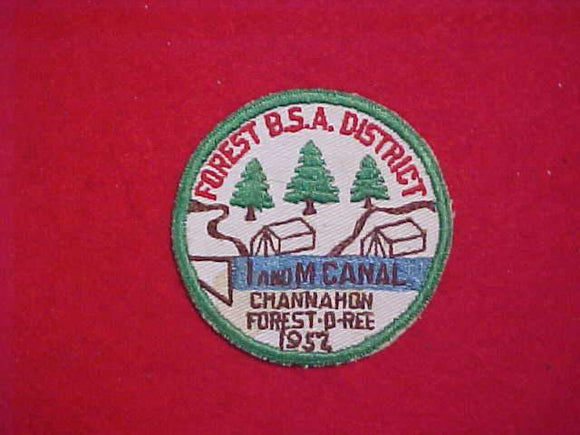 1952 FOREST DISTRICT CHANNAHON FOREST-O-REE, I AND M CANAL, USED