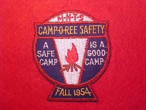 1954 M-N-T-S CAMPOREE SAFETY