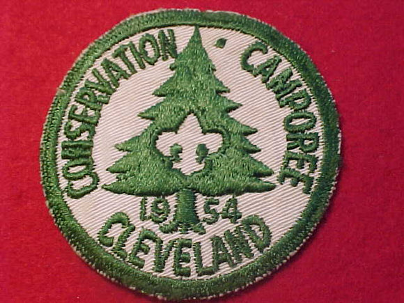 1954 PATCH, CLEVELAND CONSERVATION CAMPOREE, USED