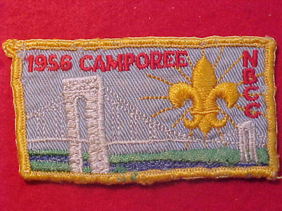1956 PATCH, NORTH BERGEN COUNTY COUNCIL CAMPOREE, USED