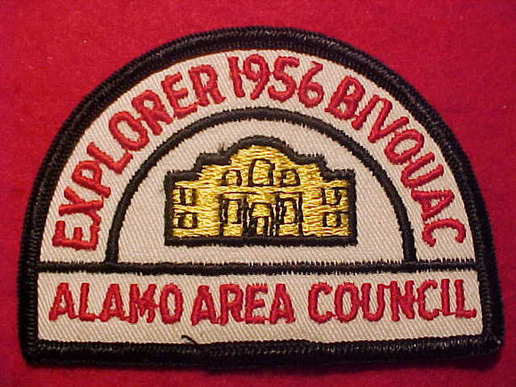 1957 PATCH, ALAMO AREA C., EXPLORER BIVOUAC