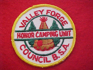 1960'S, VALLEY FORGE COUNCIL, HONOR CAMPING UNIT