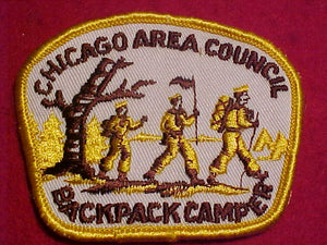 1960'S PATCH, CHICAGO AREA C. BACKPACK CAMPER, USED