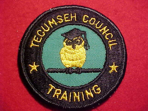 1960'S PATCH, TECUMSEH COUNCIL TRAINING