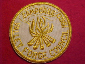 1960 PATCH, VALLEY FORGE C. CAMPOREE