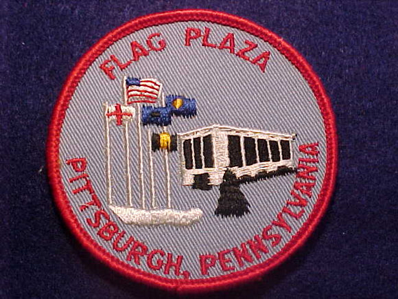 1960'S PATCH, PITTSBURGH, PENNSYLVANIA FLAG PLAZA