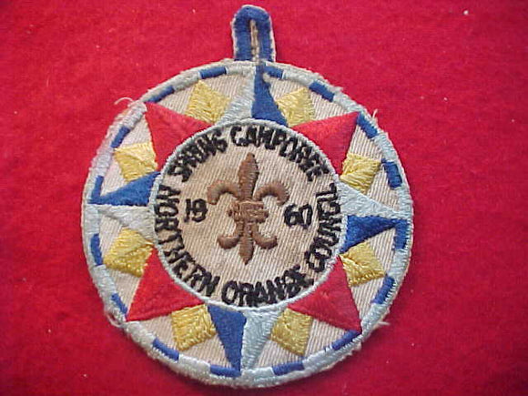 1960 PATCH, NORTHERN ORANGE C. SPRING CAMPOREE, USED