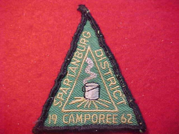 1962 PATCH, SPARTANBURG DISTRICT CAMPOREE, PALMETTO C., USED