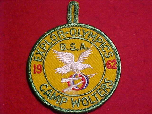 1962 PATCH, CAMP WOLTERS EXPLOR-OLYMPICS