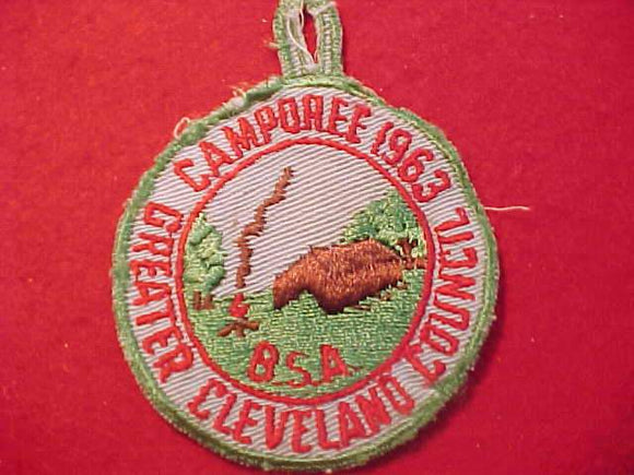 1963 PATCH, GREATER CLEVELAND C. CAMPOREE, USED