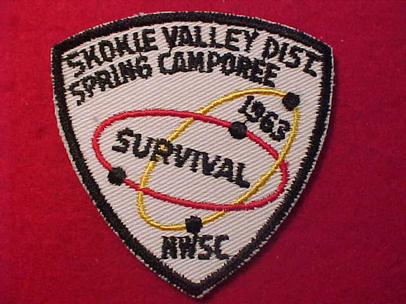 1963 PATCH, NORTHWEST SUBURBAN C., SKOKIE VALLEY DISTRICT SPRING CAMPOREE,
