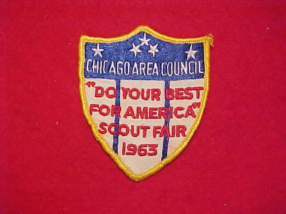 1963 CHICAGO AREA COUNCIL SCOUT FAIR, USED