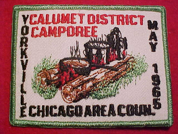 1965 PATCH, CHICAGO AREA C., CALUMET DISTRICT CAMPOREE