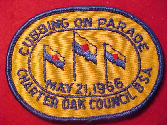 1966 PATCH, CHARTER OAK C., CUBBING ON PARADE