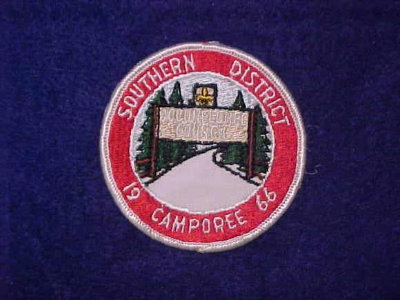 1966 OCCONEECHEE COUNCIL, SOUTHERN DISTRICT CAMPOREE