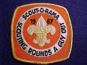 1967 SCOUT-O-RAMA, SCOUTING ROUNDS A GUY OUT