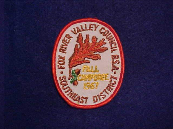 1967 FOX RIVER VALLEY COUNCIL, SOUTHEAST DISTRICT FALL CAMPOREE