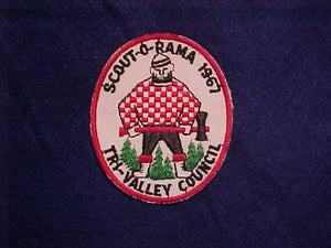 1967 TRI-VALLEY COUNCIL SCOUT-O-RAMA, USED