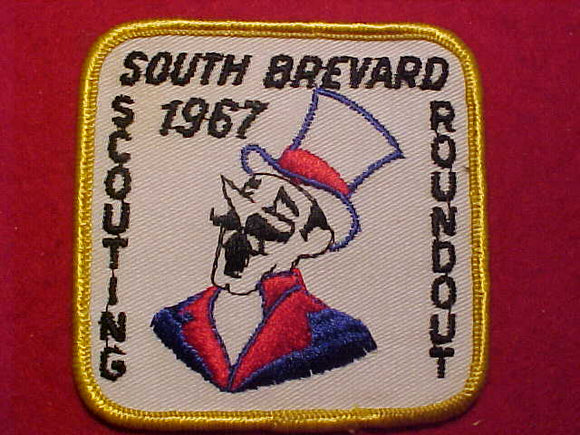 1967 PATCH, SOUTH BREVARD SCOUTING ROUNDOUT