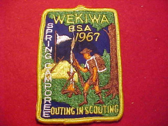 1967 PATCH, WEKIWA SPRING CAMPOREE, USED