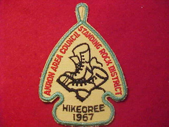 1967 PATCH, AKRON AREA C., STANDING ROCK DISTRICT HIKEOREE