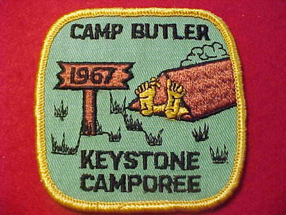 1967 PATCH, CAMP BUTLER KEYSTONE CAMPOREE