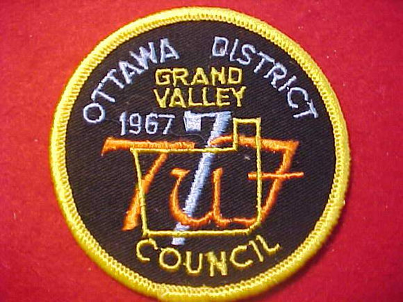 1967 PATCH, GRAND VALLEY C., OTTAWA DISTRICT