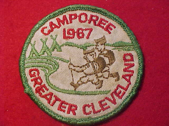 1967 PATCH, GREATER CLEVELAND CAMPOREE, USED