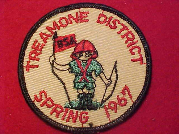 1967 PATCH, TREAMONE DISTRICT, SPRING