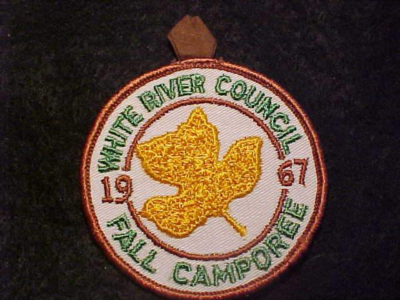 1967 PATCH, WHITE RIVER C. FALL CAMPOREE