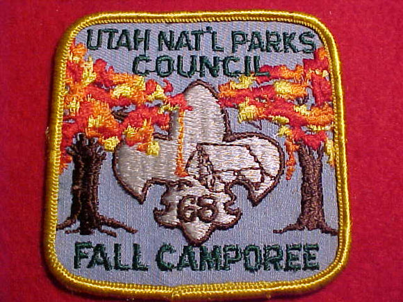 1968 PATCH, UTAH NATIONAL PARKS C. FALL CAMPOREE