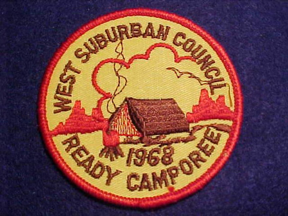 1968 PATCH, WEST SUBURBAN C. READY CAMPOREE