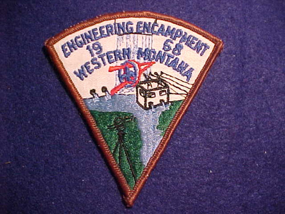 1968 PATCH, WESTERN MONTANA ENGINEERING ENCAMPMENT