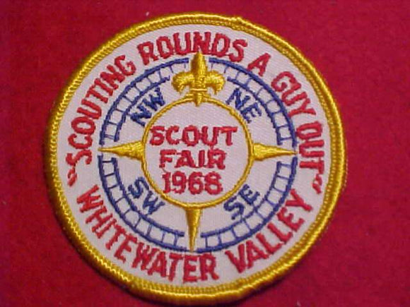 1968 PATCH, WHITEWATER VALLEY SCOUT FAIR