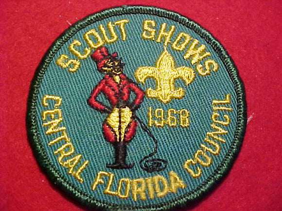 1968 PATCH, CENTRAL FLORIDA C. SCOUT SHOWS