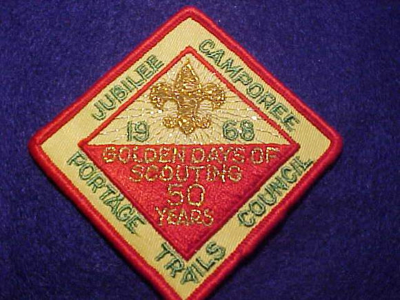 1968 PATCH, PORTAGE TRAILS C. JUBILEE CAMPOREE
