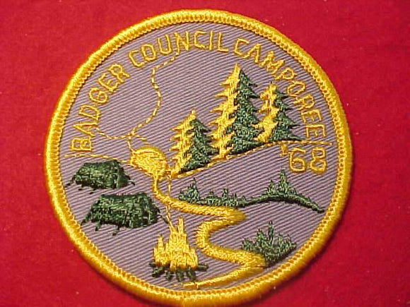 1968 PATCH, BADGE COUNCIL CAMPOREE