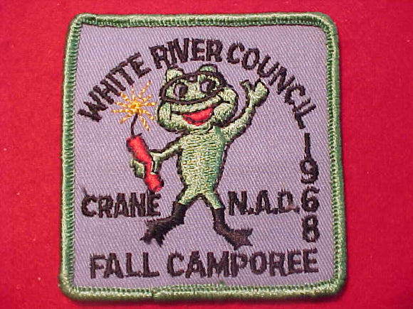 1968 PATCH, WHITE RIVER COUNCIL FALL CAMPOREE, CRANE N.A.D.