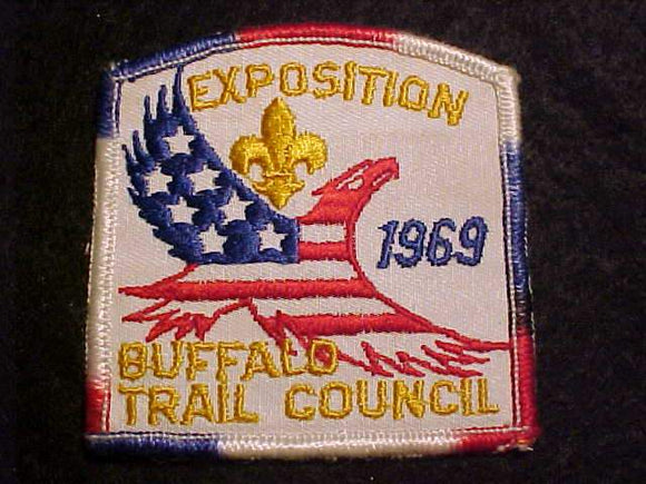 1969 PATCH, BUFFALO TRAIL C. EXPOSITION